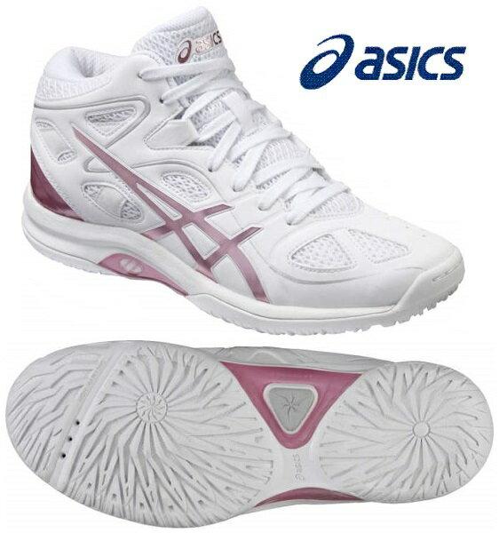アシックス レディ ゲルフェアリー 7 (バスケットシューズ) TBF402〈0120:ホワイト×ライトピンク色〉