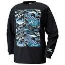 ミズノ ディズニー【ニモ】 プリントロングTシャツ(バスケットボールウェア) W2JA6553〈09:ブラック色〉