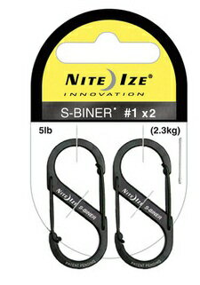 Two NITEIZE/ knight Aizu S-biner #1 black pack extreme popularity one-two hook carabiner key rings!