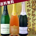 【送料無料】第3弾!至高の贅沢!豪華なる最上級スペシャル!!極上グラン・クリュ・シャンパン3本セット!!