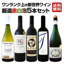 【送料無料】ワンランク上の新世界ワイン厳選赤白泡5本セット!
