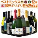 【送料無料】激得42%OFF!!自信があります!この価格でこの内容は絶対オススメ!限界ギリギリまで良いワインを詰め込んだ超厳選のベストミックス赤白泡12本!