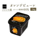 【冷凍】バレンシアオレンジ (オレンジ) ピューレ フルーツ 1kg(PONTHIER社)Valencia Orange 冷凍フルーツ フローズンフルーツ