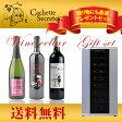 【送料無料】ワインセラー 家庭用ワインセラー ワインセラーペルチェ式 ワインクーラー ワインラック シンデレラワインの生産者が手がけるギフトワインセット(赤泡)+ワインセラー32本用 バッドボーイ ベイビーバッドボーイ バッドガール pp20ck