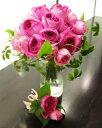 生花 ウェディングブーケ オールドローズのクラッチブーケ(※ブートニア付き)銀座の花屋東京フラワー