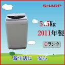 ■SHARP ES-GE55K-B 2011年製【中古】【中古洗濯機】【USED】