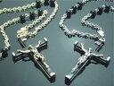 ロザリオネックレス【メール便可】ロザリオペンダント 十字架 メンズネックレス クロス シルバー ゴールド