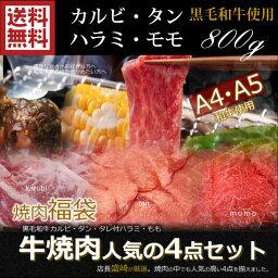 【中元 ギフト】焼肉 セット 送料無料 800g 牛肉 焼肉 カルビ/モモ/牛タン/ハラミ焼き肉セット/バーベキューセット/BBQ 肉 セット/bbq 肉 セット/bbqセット/BBQセット/国産 牛 焼肉/訳あり/お試し/バーベキュー 肉 セット カルピ