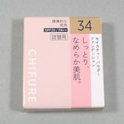 ちふれ モイスチャーパウダーファンデーション 34 詰替用 14g