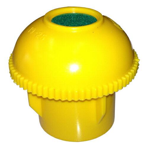 ARA-6 アラオ キャッピカ 単管キャップ・エンドキャップ D19〜D25 (黄) (48.6φ単管兼用) シール付 200個入