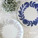 【NISHIYAMA】【西山】【デイジー】【18cmプレート】】波佐見焼き】和食器 人気 白磁 藍色 花 プレート 大 ギフト セット プレゼント