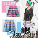 【TITICACA】サラッペ柄のミニスカート☆アジアン/エスニック/ファッション小物/チチカカアジアン雑貨 /アジアンファッション