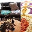 【インテリアマット】モロッコタイル柄のマグリブマット*モロッコ/エスニック/中南米/北欧マット