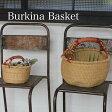 【アフリカンバック】ブルキナバスケット(SSサイズ)*フェアトレード/手作り/かごバック/かご バスケット/
