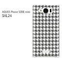 ゆうパケ送料無料【au AQUOS Phone SERIE SHL24 (アクオス)ケース】[shl24 ケース][ケース/カバー/CASE/ケ−ス][アクセサリー/スマホケース/スマートフォン用カバー][チェック・千鳥格子(グレー)/shl24-pc-new0854]