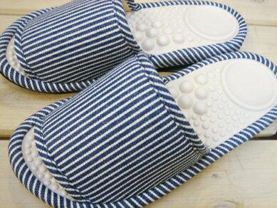 痛くない健康スリッパ『サラダボール』 ヒッコリー ブルー LLサイズ/〜26.5cm(メンズ)【意匠登録商品】