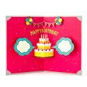 ≪送料無料≫飛び出すアルバムボードが簡単に作れる☆誕生日会を盛り上げるパーティーグッズ♪【バースデーPHOTO BOARD(フォトボード)】CAKE(SPB-0...