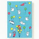 AIUEO ポストカード KUMA-balloonはがき 葉書 インテリアにも プレゼント イラスト かわいい おしゃれ デザイナー AIUPC (0200204000026)