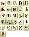 タイル アルファベット 表札 ●ピチタイル/英字 22mm角● 玄関 簡単 diy プレート 手作り 完全耐水素材 屋外使用可