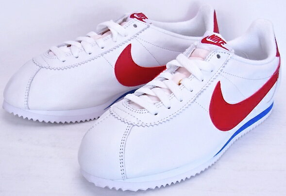 nike cortez classic red white blue