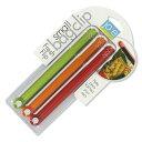MSC joie スモール(ミニ)バッグクリップ 3本入 (小) 緑/オレンジ/赤色 約15cm MSC29633