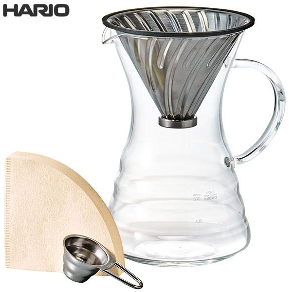 在庫限り HARIO ハリオ V60 プアオーバー デカンタ セット 700ml VPD-02HSV