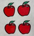 ステッカー リンゴ 4枚