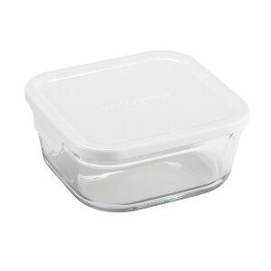 ∞iwaki イワキ 保存容器パック&レンジ BOX M (小) 深型 ホワイト KN3247H-W パックアンドレンジ 耐熱ガラス 常備菜 つくおき 作り置き 【キッチン おしゃれ インスタ映え 人気 ギフト プレゼントとして】