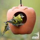 【直輸入・正規品】英国(イギリス)製  テラコッタ製ハンギング型「リンゴのバードフィーダー」(小鳥の餌皿)(8月入荷WM)