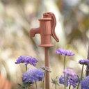 直輸入【英国(イギリス)製 テラコッタ ポンプの支柱飾り】「Garden Pump Cane Topper」ガーデンピック ポットピック