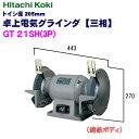 日立工機 205mm 卓上電気グラインダ GT21SH(3P)【三相】