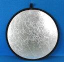 小型撮影用機材 円形 80cm2色レフ板(リフレクター)シルバー・ホワイト