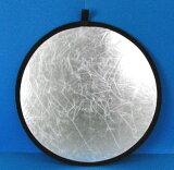 彩色80厘米2圆形反光(反射)银?白皮书[形80cm2色レフ板(リフレクター)シルバー・ホワイト]