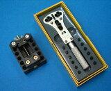 皇冠也是一個特殊的螺桿型通用冠首戰吉薩行 - 一種特殊類型(吉薩) - 開放式表冠首戰三點支持(12位) - 固定設備與[【特殊タイプ(ギザ)タイプ時計裏蓋開閉】三點支持オープナー(12ビット付き)+固定器付]