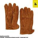 【処分価格】【NAPA GLOVE】(ナパグローブ) スエード レザー グローブ(革手袋)BROWN ブラウン レザー グローブ 革手袋 メンズ 牛革 10P18Jun16