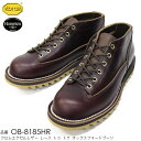 【SLOW WEAR LION】(スローウェアライオン)CHROMEEXCEL LEATHER LACE TO OXFORD BOOTS クロムエクセルレザー レーストゥオックスフォードブーツ VIBRAM#7124 ビブラムソール HORWEEN ホーウィン シャークソール リップルソール 内羽根 ワークブーツ 日本製 MADE IN JAPAN