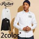 【ROTAR】 ローター EMBLEM WORK SHIRTS エンブレムワークシャツ L/Sシャツ 長袖 ワークシャツ オックスフォードシャツ
