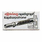 ロットリングキャピラリーカートリッジ 590-517 ブラック