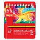 カランダッシュ スプラカラーソフト水彩色鉛筆 18色セット