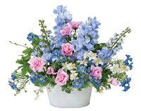 光触媒造花アレンジ 光の楽園 スイートブルー 3A1802-60
