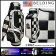 【BELDING】 ベルディング CRUZ CHECKER BOAD ブラック×ホワイト 9.5型(HBCB-95032)キャディバッグ |ゴルフバッグ キャディバック ゴルフ キャディーバック おしゃれ キャディーバッグ オシャレ ゴルフバック