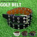 ショッピングゴルフウェア メンズ 冬 送料無料 ゴルフベルト メンズ ゴルフウェア フリーサイズ ダブルピン アクセサリー 小物 ホワイト 白 ブラック 黒 新作 トップイズム