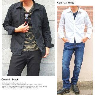 ブロードスキッパーシャツメンズ無地長袖カジュアルシャツトップスキレイ目メンズファッション通販新作人気トップイズム