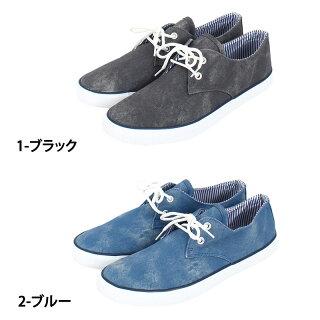 メンズスニーカームラ染めローカットレースアップバルカナイズ製法デッキシューズデザインカジュアルシューズアメカジメンズファッションメンズ靴靴新作あす楽