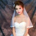 ブライダル ウエディングベール シフォン 結婚式ベール!ホワイト/オフホワイト/ウエディング/ブライダル/ウェディング/ベール/ロング/..