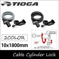 自転車 鍵 ワイヤーロック ワイヤー錠 カギ 10x1800mm TIOGA タイオガ【RCP】の画像