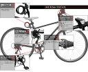 【送料無料】自転車 クロスバイク 26インチ 6段変速 自転車 カギ ライトセット 26インチ クロスバイク シンプル 自転車 シマノ製6段変速 TOPONE クロスバイク MCR266-29【RCP】