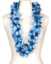 フラダンス衣装 レイ ハワイアンレイ フラワーレイ ハワイ 花飾り イベント フラ B-13 バンダオーキッドダブルレイ ブルー 青