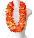 フラダンス衣装 レイ ハワイアンレイ フラワーレイ ハワイ 花飾り イベント フラ OR-17 Eプルメリアレイ オレンジ