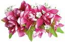 フラダンス衣装 髪飾り 花飾り ローズ ヘアクリップ レイ イベント フラ ツバ